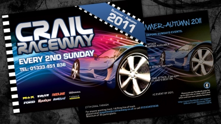 Events flyer for Crail Raceway
