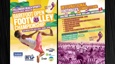 Footvolley Competition in Brighton flyer design
