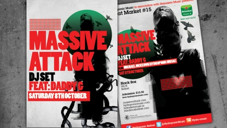 Flyer design for Massive Attack DJ