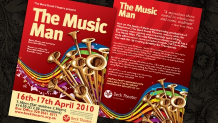 Theatre show flyer and poster artwork