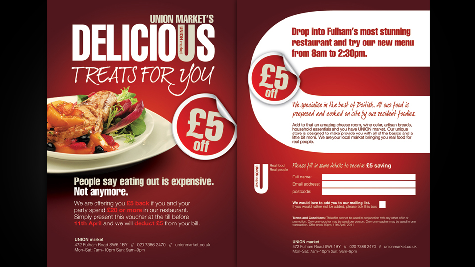 Restaurant Flyer  Alan Campbell  Freelance Graphic Design  Web