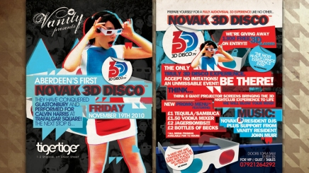 3D disco flyer design in Aberdeen