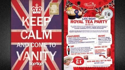 Aberdeen Royal Tea Party flyer design