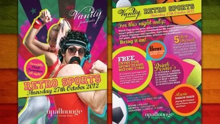 Retro Sports flyer design