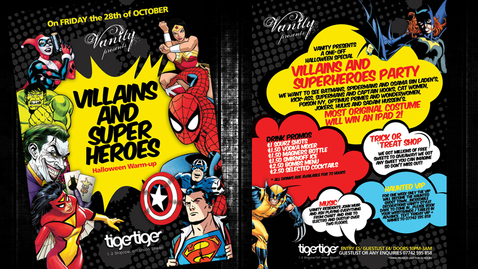 Villains and Superheroes | Alan Campbell : Freelance Graphic ...