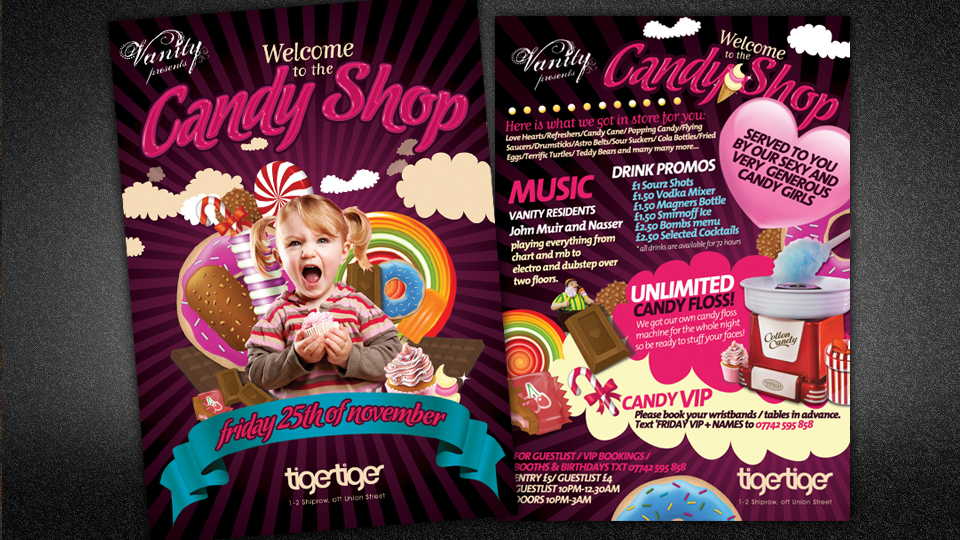Candy Shop Alan Campbell Freelance Graphic Design