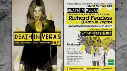 Death in Vegas flyer design