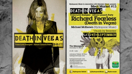 Death in Vegas flyer design