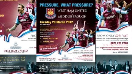 Poster design for West Ham United