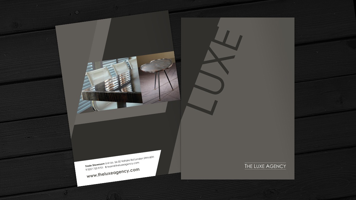 Luxe brochure design alan campbell freelance graphic for Interior decoration brochure design