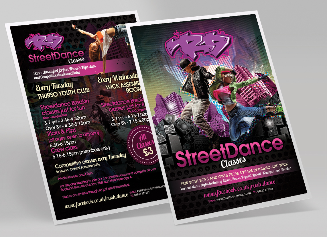 Street Dance flyer design | Alan Campbell : Freelance Graphic ...